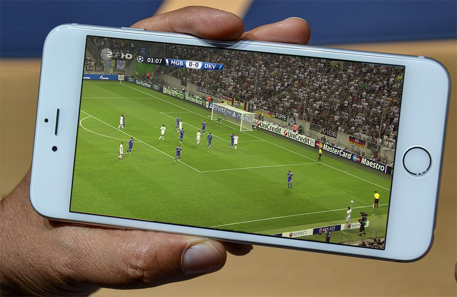 Regarder un match en streaming sur iPhone ou iPad